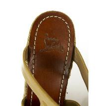 CHRISTIAN LOUBOUTIN Salamanca Espadrille beige Patent Leather Wedges Shoes sz 37 image 8
