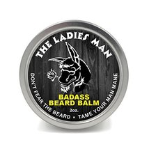 Badass Beard Care Beard Balm - The Ladies Man Scent, 2 Ounce - All Natural Ingre image 8