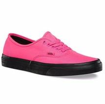 VANS Authentic (Black Outsole) Neon Pink/Black VN0A348ALVY Men's Skate S... - $49.95