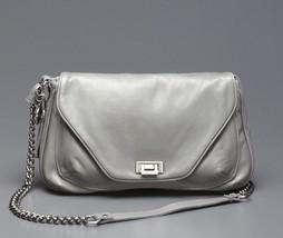 TYLIE MALIBU Grey Leather Jetset Cross Body Bag NWT - $250.00