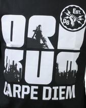 Orisue Mens Black White Carpe Diem Union Working Industry T-Shirt Medium NWT image 2
