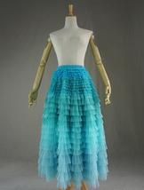 Women Layered Tulle Skirt Wedding Skirt High Waist Party Prom A-line Tulle Skirt image 7