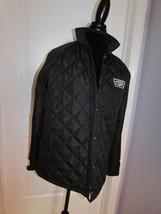 Vans Thanks Coach Black Quilt Pattern Jacket Size Medium Women's - $118.79