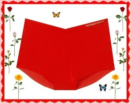 XL Bright Red NO SHOW Edges Victorias Secret High Waist Midi Brief Panti... - $10.99