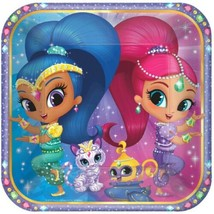 """Shimmer and Shine 8 9"""" Lunch Plates Birthday Party - $5.24"""