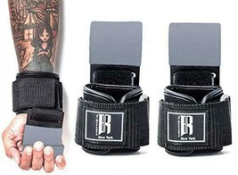 RIMSports Weight Lifting Hooks Heavy Duty Wrist Straps for Pull Gray  - $38.60