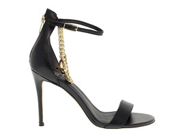 Heeled sandal GUESS FLKON2 in black leather - Women's Shoes - $125.97