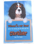3D CAVALIER TRI DOG WELCOME SIGN STUNNING EYE CATCHING 23CM X 15CM DURAB... - $5.18