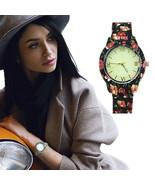 Floral Print And Vintage Design Ladies Fashion Watch - $19.95