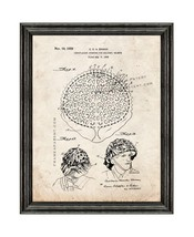 Camouflaging Covering Military Helmets Patent Print Old Look with Black Wood Fra - $24.95+