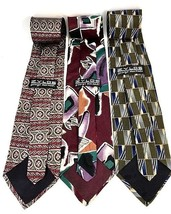 "NEW Three (3) ZYLOS George Machado Italian Silk Men's Neck Ties 58"" - $21.95"