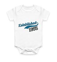Gift Idea Personalised Customised Established 1955 Body Suit Baby Grow V... - $10.46