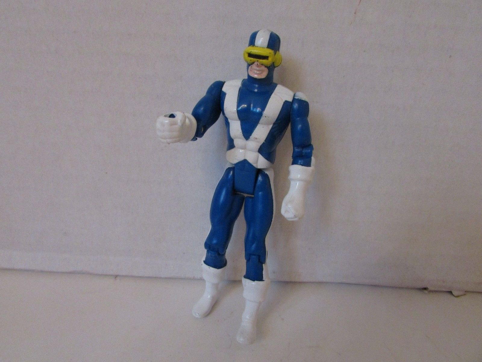 "TOY BIZ 1991 MARVEL X MEN  CYCLOPS X FORCE ACTION FIGURE  5"" AS IS  L143"