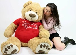 You Are Special Giant Teddy Bear Five Feet Tall Soft Tshirt Says YOU ARE... - $97.11