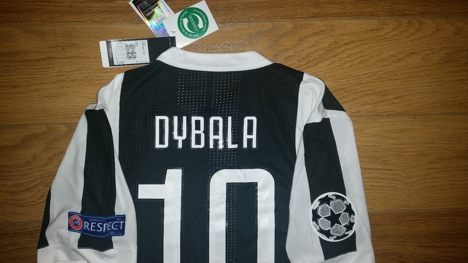 Paulo Dybala Juventus Home Jersey Champions League 17 18 Player Version  Size L b7c5ee39c