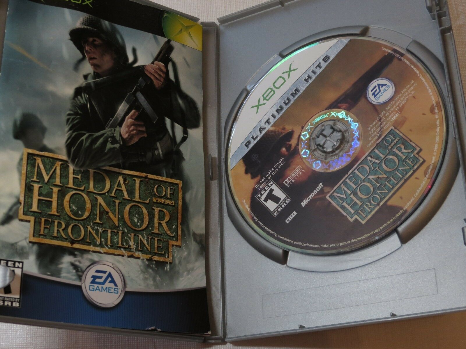 Medal Of Honor:Frontline Platinum Hits (Microsoft Xbox, 2003) T-Teen Sparatutto