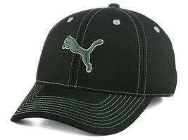 wholesale dealer c3ea4 116cd Puma Black  amp  Gray Contrast Stretch Fitted Hat Cap NWT S M L XL