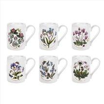 Portmeirion Botanic Garden Tankard Mug Set/5 ASSORTED MADE IN ENGLAND FL... - $149.75