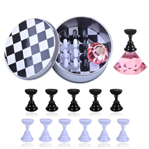 Nail Art Holder Practice Stand For Nail Art Display Magnetic Nail Stand ... - $13.68