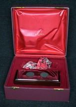 Steuben Regal Lion Statue Signed Crystal Sculpture with original box - $1,900.00