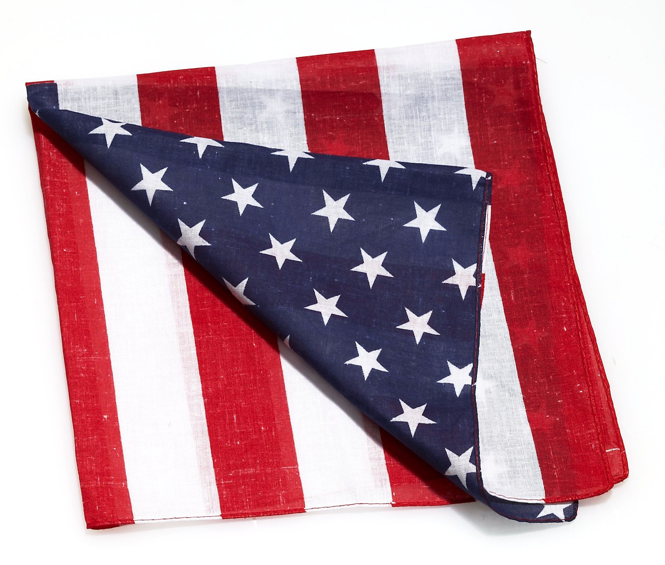BANDANA Pack of 6 in Red White Blue American Flag Design 100% Cotton