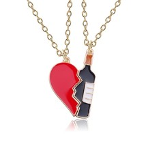 2019 Spring and Autumn New 2 Pieces / Set of Wine Bottle Heart Shaped Couple Nec - $9.74