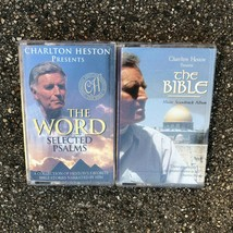 Lot of 2 Charlton Heston Audio Cassettes: The Word Selected Psalms & The... - $4.82