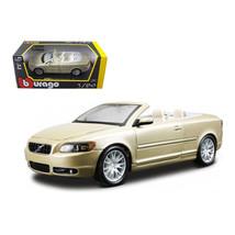 Volvo C70 Convertible Gold 1/24 Diecast Car Model by Bburago 22101gld - $32.30