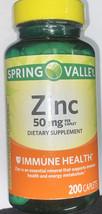 Spring Valley Zinc 50 mg Immune Health Diet Support Supplement - 200 Caplets - $12.99