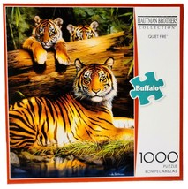 New Buffalo Games Hautman Brothers Quiet Fire Tiger 1000 Piece Jigsaw Pu... - $39.55