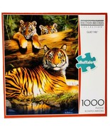New Buffalo Games Hautman Brothers Quiet Fire Tiger 1000 Piece Jigsaw Pu... - $39.55