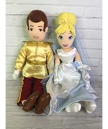 Disney Store Princess Cinderella Prince Charming Wedding Plush Stuffed Doll Set - $71.28