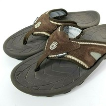 b806bcff6 Teva Mens Size 8 Flip Flop Thong Sandals Outdoor Shoes Brown Suede Leather  - £24.65