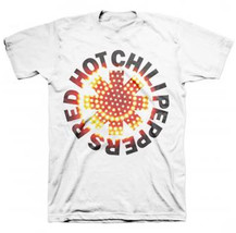 Red Hot Chili Peppers-LED Asterisk-XXL White T-shirt - $13.54