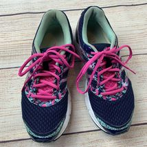 Asics womens Gel Excite 4 Navy Pink Running Shoes Sneakers 10/ 42 EUC image 3