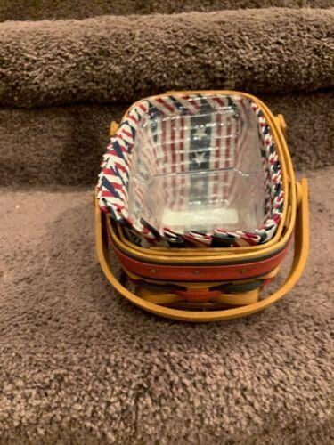 LONGABERGER 1996  Mini Vegetable All American Summertime Basket, Divider, Liner