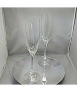 Faberge Atelier Crystal Champagne Glasses Set of 2 signed Tatiana Faberge - $450.00