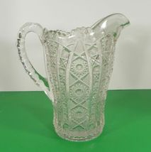Imperial Vintage Glass DAISY AND BUTTON Water Pitcher Set with 7 Tumbler (s) image 6