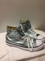 Converse All Star Metallic Glacier Blue Hi Top Shoes WoSize 12.5 Men's 10.5 - $37.61
