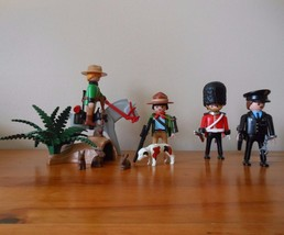 Lot of Playmobil Mounty Police Detective Park Ranger Queens Guard Nature... - $34.64