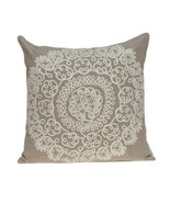 """20"""" x 7"""" x 20"""" Traditional Tan Pillow Cover With Down - $161.88 CAD"""