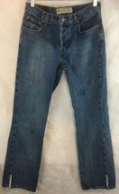 American Eagle Outfitters Size 6 Button Fly Woman's Denim Blue Jeans Dis... - $19.75