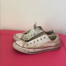Womens CONVERSE ALL STAR CREAM SNEAKERS 8.5 - $29.69