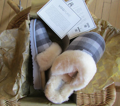 UGG Slipper Shoes Cozy Plaid Flannel BK5 Fits Women Size 6.5-7.5 NEW - £89.98 GBP