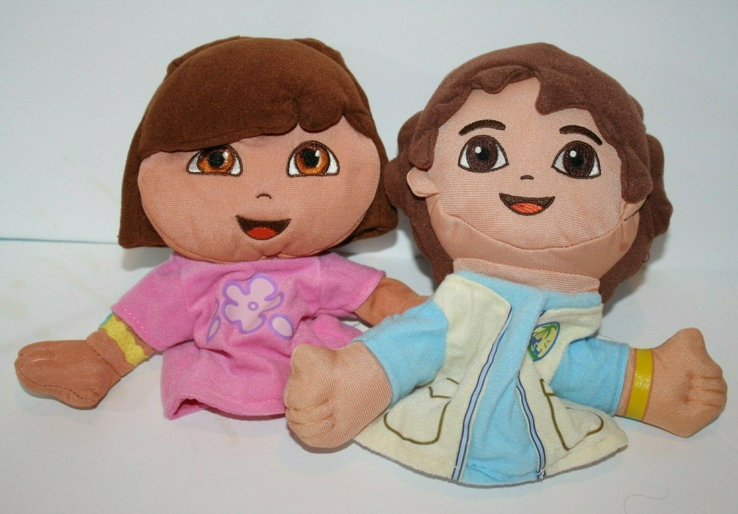 Primary image for Fisher Price DORA the Explorer DIEGO Hand Puppets Dolls Soft Toys Stuffed 2006