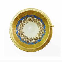 Atomic Gold Blue Tea Cup & Saucer Set Winterling Bavaria Vintage 1950s H... - $58.50