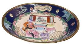 "Antique Vintage Oriental Asian Hand Painted Porcelain Plate Wall Decor 7"" - $49.49"