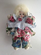 Eskimo Doll Genuine Porcelain Face Country Floral Pinafore Clothing Coll... - $9.22
