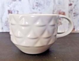 Starbucks Coffee Cup Raised Mermaid Scales White 3D Mug 2013 - $22.98