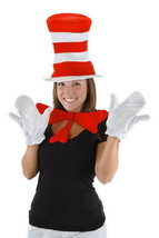 Dr. Seuss Cat In The Hat Cat Costume Accessories Kit for Adults NEW SEALED - $22.24